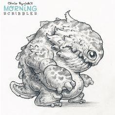 Official Post from Chris Ryniak: Giant Pepper Fish Kaiju! Cute Monsters Drawings, Cartoon Drawings Of Animals, Cartoon Monsters, Creature Drawings, Cartoon Girl Drawing, Guy Drawing, Animal Sketches, Drawing People, Drawing Sketches