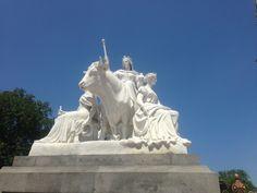 Statue of the Albert memorial Britannia
