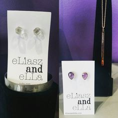 Loving both these E&E sets! On the right rose gold bar necklace with Amethyst rose gold earrings.  On the left Edmonton city scape cuff and clear quartz stud earrings. I'm sure any lady would be happy to see these pieces under the tree!
