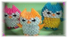 3d origami - little owl