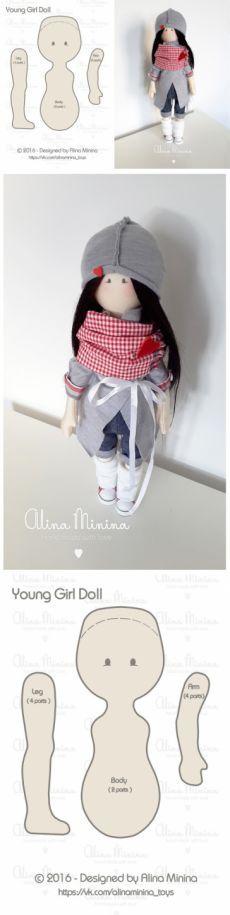 выкройка куклы с пропорциями подростка