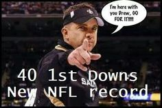 New NFL record! Geaux Saints!