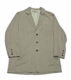 Vintage Tommy Bahama Beige Safari Travel Sport Coat Mens Size Medium $60.00