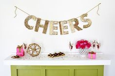Sequin letter garland DIY (click through for tutorial)