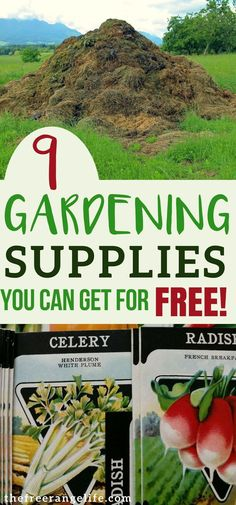Cheap Garden Ideas! Get vegetable gardening supplies for free! Frugal Gardening   Organic Gardening   Garden Tips and Ideas #OrganicGardening #gardeningvegetables
