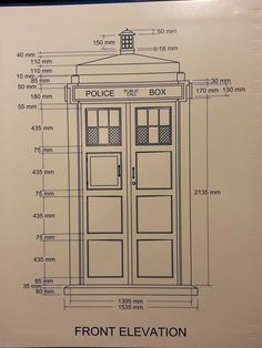 Tardis plans with dimensions.
