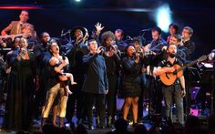 Amanda Palmer, Marc Almond, Conor O'Brien and Philippe Jaroussky perform with the House Gospel Choir and musicians' collective s t a r g a z e at the David Bowie Prom