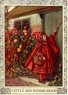 vintage fairy tale illustrations | ... Antique Red Riding Hood-Vintage Fairy Tale Illustration by finsbry