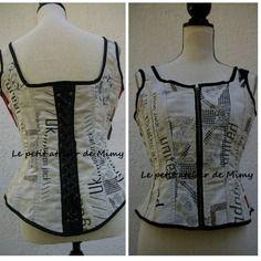 Top à bretelles effet corset zippé motif royaume uni taille 38