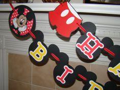 Mickey Mouse Birthday Banner. $25.00, via Etsy.