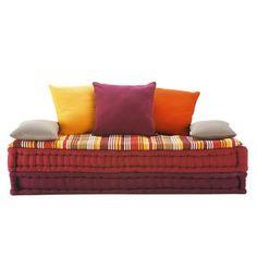 banquette lit de repos sahel 2 ou 3 places socle coloris teck banquettes and places. Black Bedroom Furniture Sets. Home Design Ideas