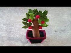 Cara Membuat Pohon Apel dari Kain Flanel - YouTube