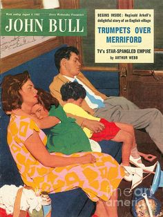 John Bull Uk Holidays Trains Day by The Advertising Archives Old Magazines, Vintage Magazines, Family Illustration, Graphic Illustration, Magazine Art, Magazine Covers, August Colors, Holiday Train, Advertising Archives
