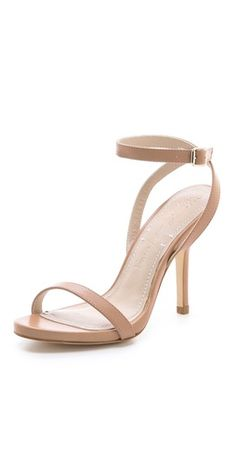 Gorgeous sandals by Elizabeth and James, in the perfect shade of nude to make your legs look miles long!  #shoes #ElizabethandJames #sandals