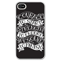 Running iPhone/Galaxy S3 Case Courage To Start - This customizable protective case is the perfect accessory for any runner's phone. This great Cell Phone Case fits the iPhone 4, iPhone 4S, iPhone 5 and Samsung Galaxy S3.