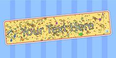 Editable Carnival Themed Display Banner - celebrations, header