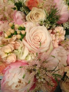 Another beautiful bridesmaid's bouquet with peonies! Mary Tuttle's Flowers and Gifts, Chesterfield, MO