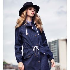 Make a statement with our waterproof denim parka. . . . . . . #denim #blue #amsterdam #denimaddict #cool #sturdy #spijkerstof #jeans #waterproof #allweather #raincouture #myraincouture #rain #rainyday #raingear #outerwear #rainwear #raincoat #waterresistant #multifunctional #innovative #aesthetics #windproof #delicate #4season