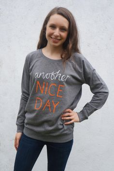 Another Nice Day hand screen printed organic by LOSTSHAPESPRINTS