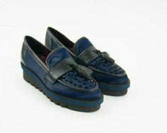 Zapato Hego's suela gruesa azul
