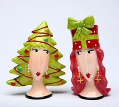 Christmas Tree and Gift Salt and Pepper Set - Functional and decorative salt and pepper set;Ceramic and dolamite material. constructed with quality and durability in mind. Christmas Tree With Gifts, Xmas Tree, Christmas Decorations, Christmas Ornaments, Holiday Decor, Salt And Pepper Set, Salt Pepper Shakers, Girl Gifts, Mom Gifts