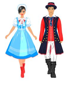 Folk Costume, Costumes, Polish Folk Art, Traditional Outfits, Paper Dolls, Poland, Comic Art, Snow White, Disney Princess