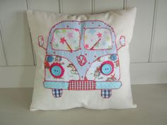 "VW CAMPER VAN Patchwork cushion Kit 12"" Cath Kidston Fabric & Pattern New! 