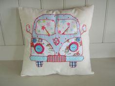 "VW CAMPER VAN Patchwork cushion Kit 12"" Cath Kidston Fabric & Pattern New! | eBay"