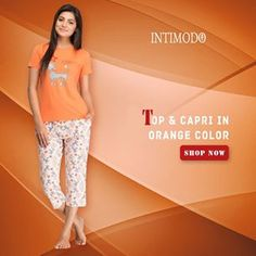 Buy #Top, #Capris and #Pajam for women online. Shop from our trendy collection of #women's #wear #online in #India available at Intimodo. Explore more latest products here➡  #WomenWear #WomenDresse #OnlineShopping #Fashion #Intimodo