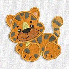 Adorable Applique  cute tiger applique