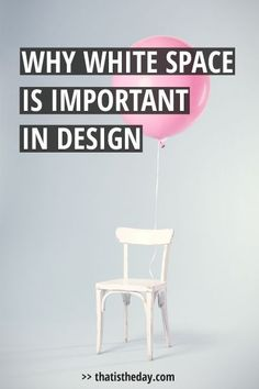 Let's talk about rule #1 in design: White space. White space is the most important factor of good design. This post will explain why and how you should use it to enhance your design | thatistheday.com #designtips