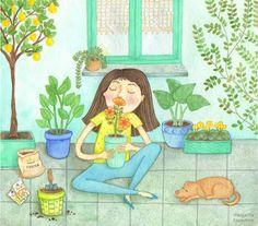 Margarita dibuja: Perfume a primavera adelantada