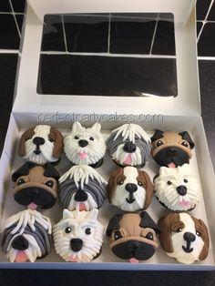 westies cupcakes | cupcake close up pug dog cupcakes £ 3 50 each