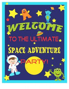 catch_my_party_outerspace_Welcome_Sign