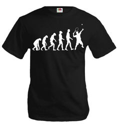 buXsbaum T-Shirt The Evolution of tennis-XXL-Black-White *** Visit the image link more details.