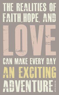 Faith Based Art Inspirational Art faith hope love by faithforward, $16.00