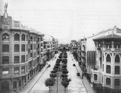 Pamplona, Street View, Building, Travel, Outdoor, Houses, Antique Photos, Black And White, Cities