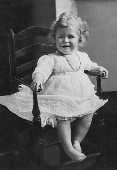 A positively precious portrait of Princess Elizabeth, daughter of the Duke and Duchess of York. June 1927
