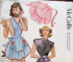 Free ShippingMcCalls 1279 Fancy Half  Apron Opt by resurrections, $24.95