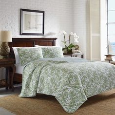 Tommy Bahama Anglers Isle Aloe 3-piece Quilt Set | Overstock.com Shopping - The Best Deals on Quilts