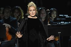 Just a little ways into her emotional tribute to George Michael, Adele abruptly stopped, and request... - Getty Images for NARAS