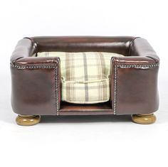 Lords & Labradors The Tetford Square Full Leather Dog Chesterfield Sage, £360.00
