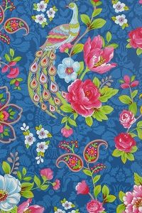PiP Flowers in the Mix Dark Blue wallpaper