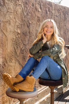 The perfect boot for Fall, the Alyssa Hickory by BEARPAW features suede upper and is treated with NeverWet so you can live life comfortably, anywhere.