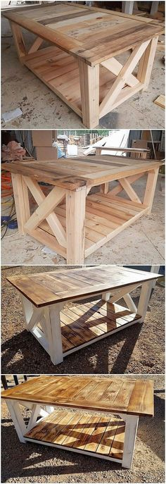 Diy Furniture - Much elegant form of the wood pallet table work has been created at the best her.