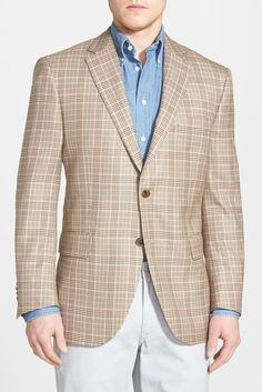 New York Classic Fit Check Wool Sport Coat | Man shop and Sport coat