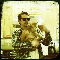 """""""Sometimes I get a little sad, and I feel like being alone. Then I talk to my cat about it, and he reminds me that I'm James Franco. Then we dance."""""""