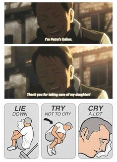 Shingeki no Kyojin Petra x Levi << I'm more of a Hanji/Levi shipper, but this still made all the feels happen in my heart.:
