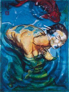 Plasma, Painting, Mermaids, Art Ideas, Maps, Antigua, Art, Libros, Travel
