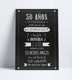 Cartel. Poster. Afiche. Cumpleaños. Adultos. 50 años. 50th Birthday Party Ideas For Men, Moms 50th Birthday, 90th Birthday Parties, 50th Party, Happy Birthday, Fiesta Decorations, Happy Party, Ideas Para Fiestas, Birthday Invitations